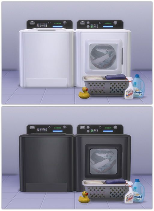 Sims 4 Updates: 13pumpkin31 - Objects, Appliances : Washer & Dryer recolors, Custom Content Download!