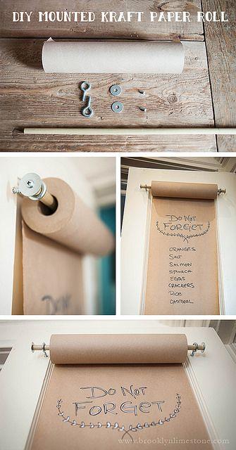 DIY Mounted Kraft Paper Roll