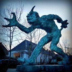 The Troll That Smells Christian Blood, 1891, Niels Hansen Jacobsen