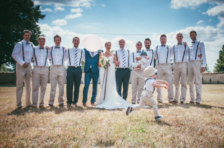 French wedding at Le Logis du Paradis in the Charente. Love the groomsmen's outfits! www.frenchify.co.uk www.susielawrence.com