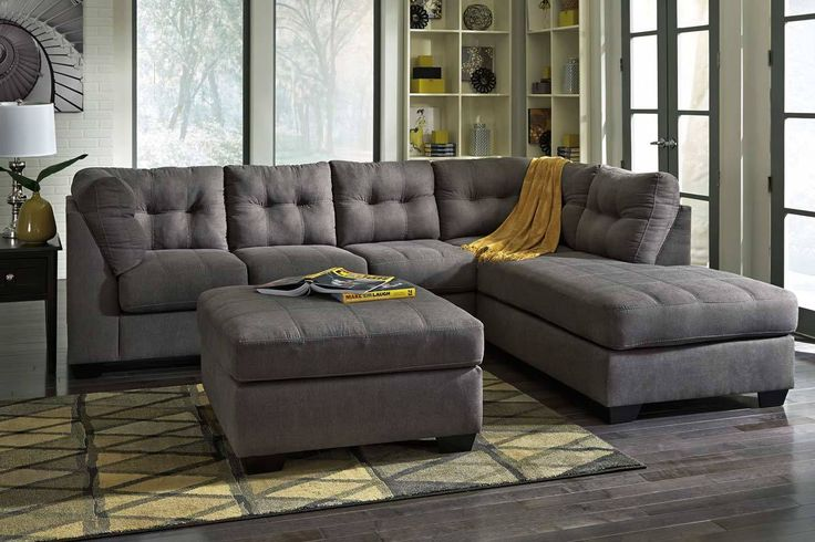 Fabric Sectional Sofa 4520016 1 Charcoal Sectional
