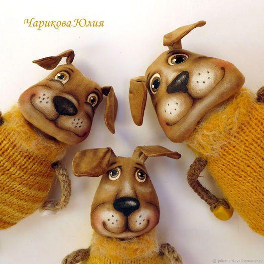 Ароматизированные куклы ручной работы. Ярмарка Мастеров - ручная работа. Купить Собачки, Символ 2018 года. Handmade. Желтый