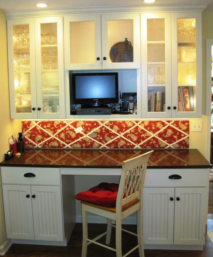17 best images about kitchen on pinterest islands for Built in kitchen desk ideas