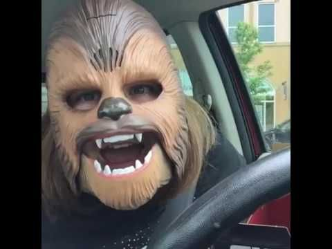 LAUGHING CHEWBACCA MASK LADY (FULL VIDEO). Woman Gets The Real Chewbacca's Attention With Her New Mask. Published on May 19, 2016  Absolutely Hilarious!