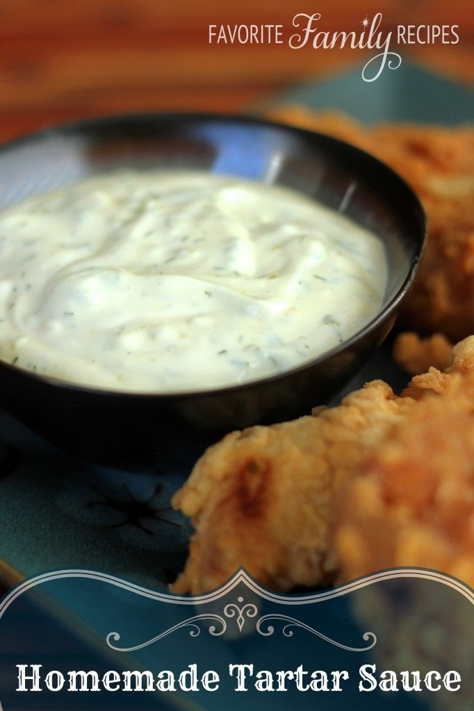 Homemade Tartar Sauce from favfamilyrecipes.com - Who knew making your own tartar sauce was so easy and tastes so much better and fresher than anything you can buy!