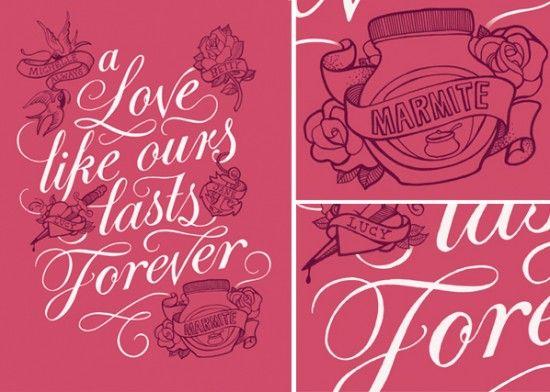 mmmm marmite - LOVE IT!Beautiful Paper, Kate Forrest, Typography Design, Illustration, Hands Letters, Beautiful Typography, Typography Calligraphy, Hand Lettering