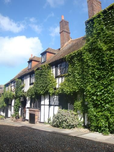 The Mermaid Inn, Sussex   it was established in the 12th century and has a long, turbulent history. The current building dates from 1420 and has 16th-century additions in the Tudor style, but cellars built in 1156 survive.[