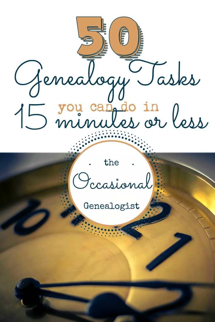 50 ways to get your genealogy fix when you're short on time.