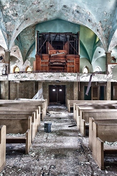 Photographer Eric Holubow will be signing copies of his new book 'Abandoned: America's Vanishing Landscape' in Chicago on Friday, September 26th from 6pm to 8pm in Logan Square, at 2864 N. Milwaukee Ave at the Greater Good Studio  #Chicago south side church #photography