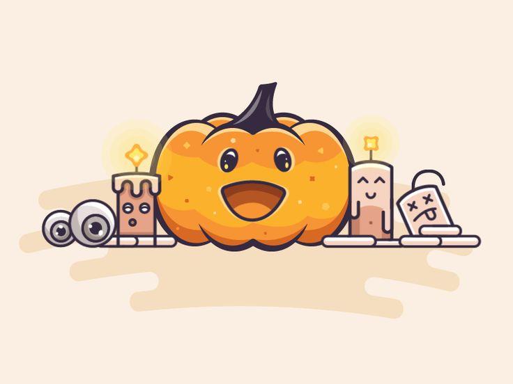 Groovy Halloween by Mike Voropaev #Design Popular #Dribbble #shots