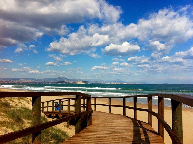 Feliz sábado Familia #Alifornia!! Hoy podemos visitar Los Arenales del Sol, #ElAltet. 🌅🚶♀️💙 #Elche #Alicante #CostaBlanca