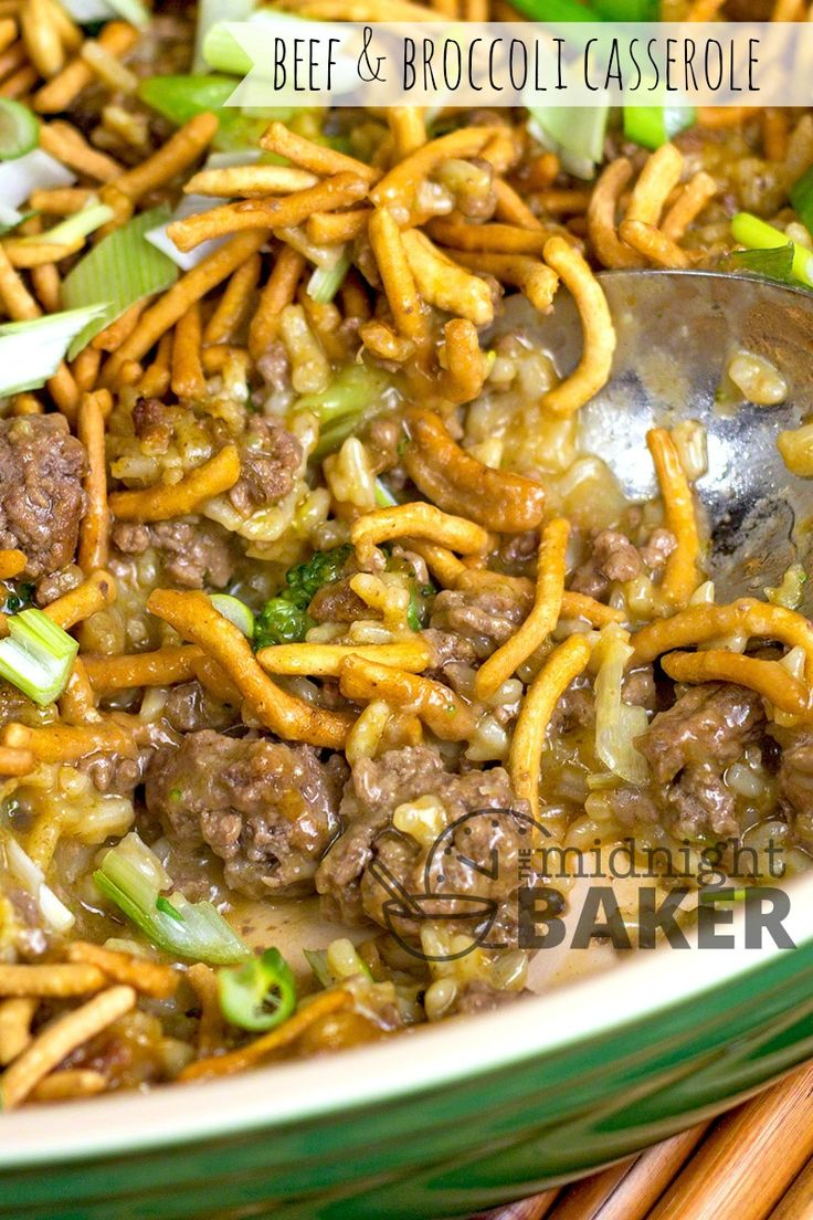 Crunchy beef broccoli casserole broccoli beef hotdish