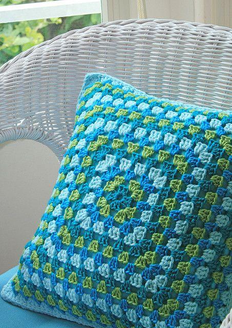 Crochet pillow, inspiration.