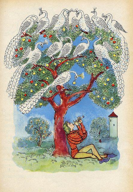 Václav Říha: Pohádky (Fairy Tales)    Illustrated by Milada Marešová. Prague 1953.
