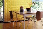 Orla Kiely behang linear stem geel