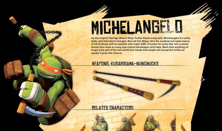 TMNT Ninja Turtles - Mikey  Michelangelo's Biography