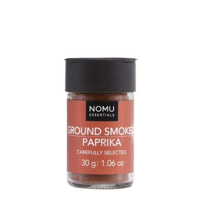 NOMU Single Spices - Ground Smoked Paprika: The sweet, fruity and smokey tones of Paprika make it an exciting spice to have in the kitchen.