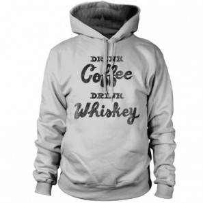 DRINK COFFEE DRINK WISKEY WITH  ALLINCLUSIVE APPAREL BOYS HOODIE