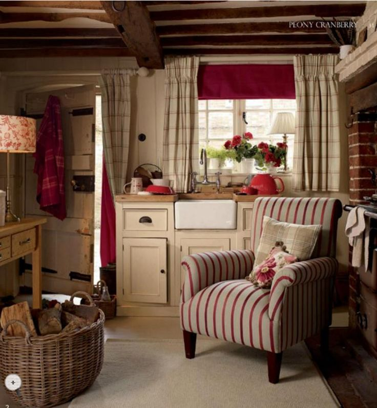 Cosy Cottage Kitchen With Armchair By The Range All