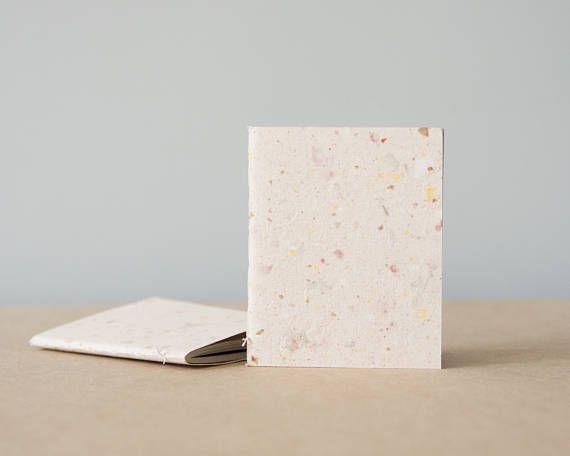 Light Pink Handmade Papercover Pocket Notebook  Sketchbook