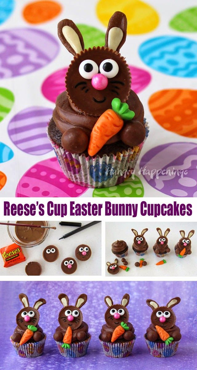 How to make Cute and Easy Easter Bunny Cupcakes from HungryHappenings.com