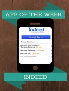 Indeed Mobile App - great for finding a job! #careers