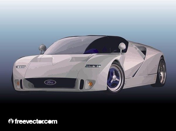 Ford Race Car Free Vector Free Vectors Pinterest Free Cars