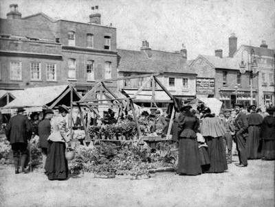 St Peter's Street, 1895 - market