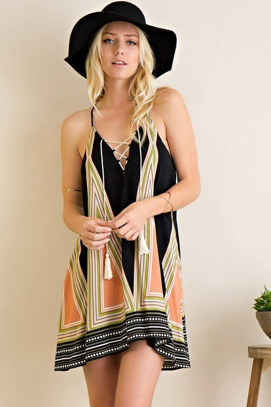 For all you festival lovers out there, we have the dress for you! The Wild Kind swing dress features a...