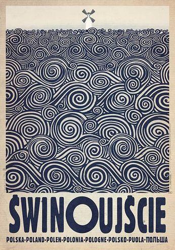 Świnoujście, polski plakat turystyczny