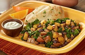 Potato, Black Bean, & Kale Skillet - What's Cooking? USDA Mixing Bowl #MyPlate