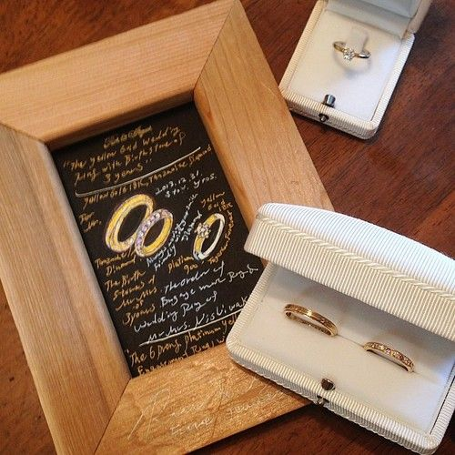 Just Ready for delivery! A pair of yellow gold wedding rings & engagement ring set! Thanks for ordering! オーダーシートもやっと描けてお届け準備完了ですよね!ご依頼頂き本当に光栄です。どうぞいつまでもお幸せに!感謝です!Rui & Aguri Fine...