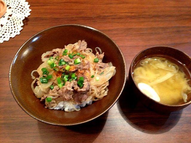 昨日の晩ご飯* - 12件のもぐもぐ - 牛丼 by yuurimaman