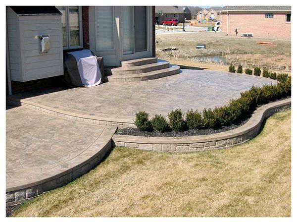 25 best ideas about concrete patios on pinterest
