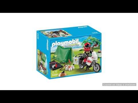 Мотоциклист и складная палатка  Playmobil (Плеймобил)