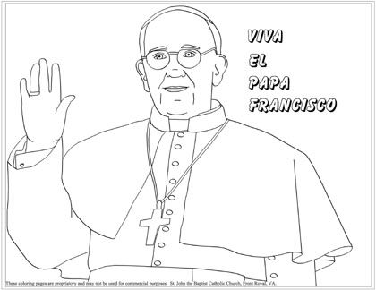In Honor of Pope Francis (coloring page)
