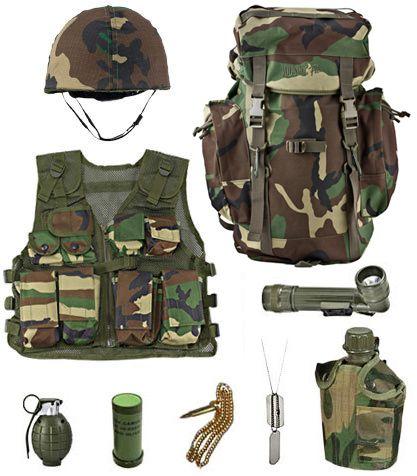 dog tags - Boys Army Halloween Costumes