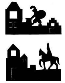Free printable for Sinterklaas and Zwarte Piet window decorations