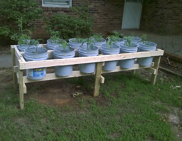 Less attractive raised bed, but could still movable with casters.