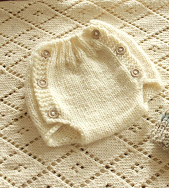 Diaper Cover Knitting Pattern  Newborn   Instant by ezcareknits