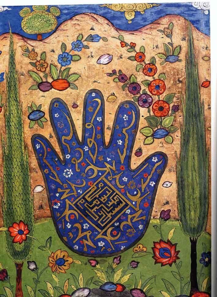 ( - p.mc.n.) Hand of Fatima