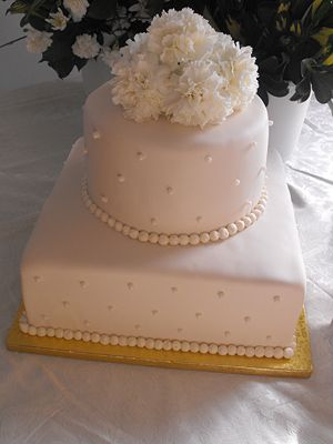 2 Tier Wedding Cakes With Buttercream Frosting