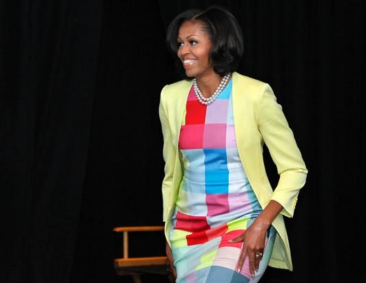 First lady Michelle Obama speaks at the Newseum in Washington, DC, June 5, 2012.