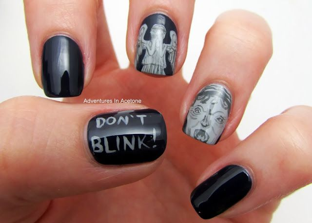 The Digit-al Dozen DOES It All Again: Geek! Doctor Who Weeping Angels nails