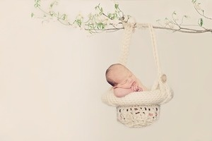 Hanging Basket Newborn Photo Prop Crochet Pattern by @Scotti Oxford aka Inner Hooker...  I love this!!  Haven't seen this before