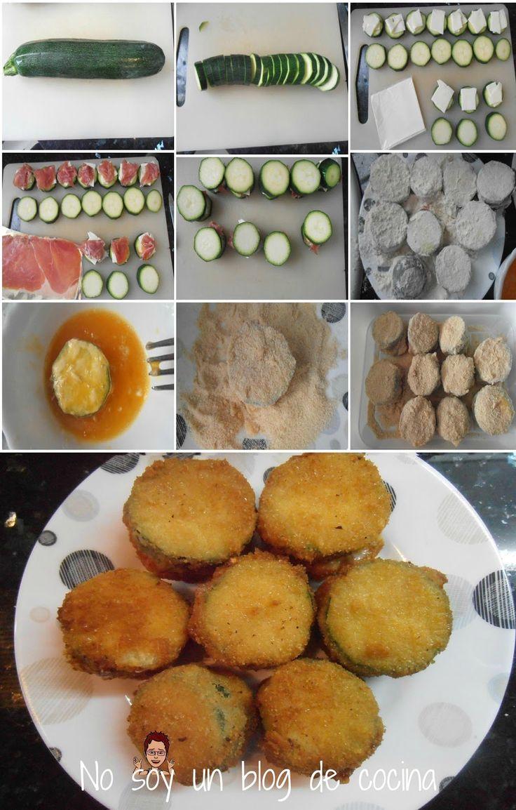 No soy un blog de cocina: BOCADITOS DE CALABACÍN RELLENOS DE QUESO Y JAMÓN