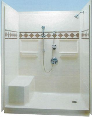 Renovation one pc shower stall.