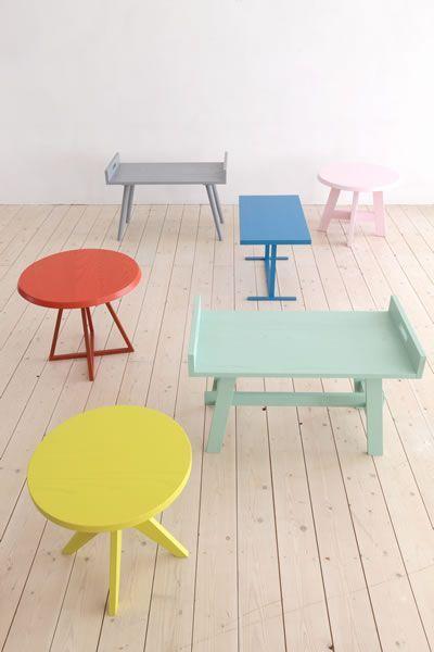 Slowwood | Slowwood handmade table furniture | Colorful