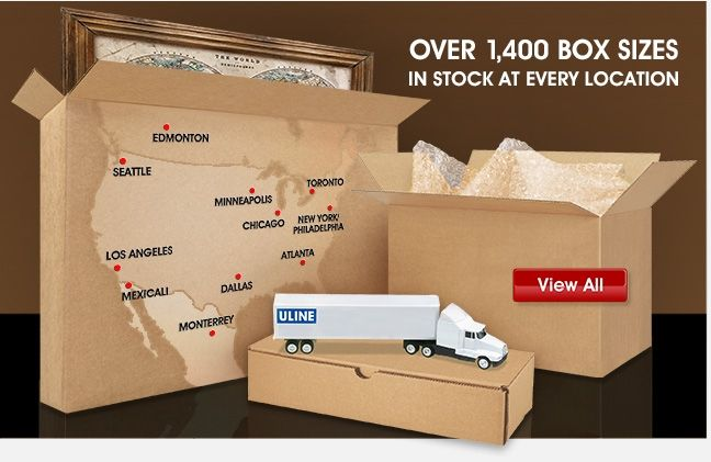 Uline - OVER 1,400 Box SIZES IN STOCK AT EVERY LOCATION - View All