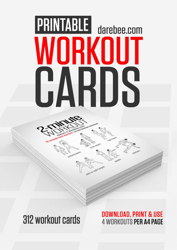 Free printable workout cards